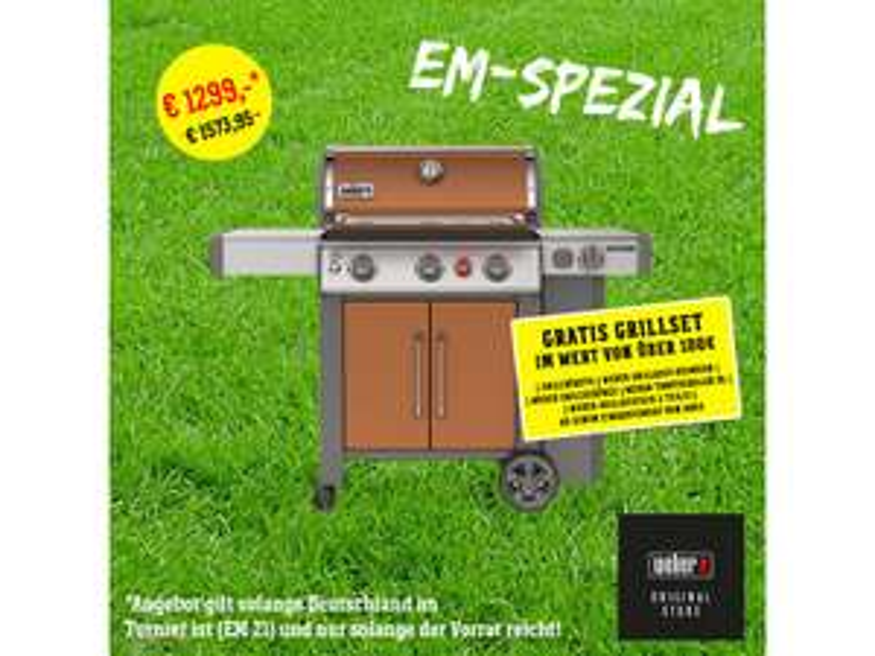 Weber Genesis® II EP-335 GBS Copper inkl. 100€ Weber Grillset