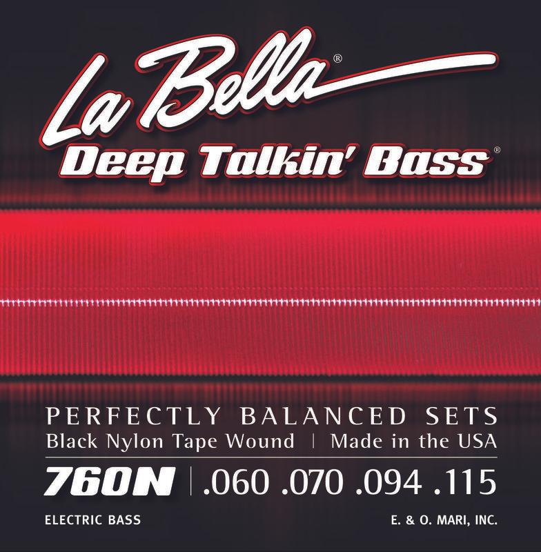 LaBella LB-760N Black Nylon Tapewounds - ideal für Fretless-Bässe