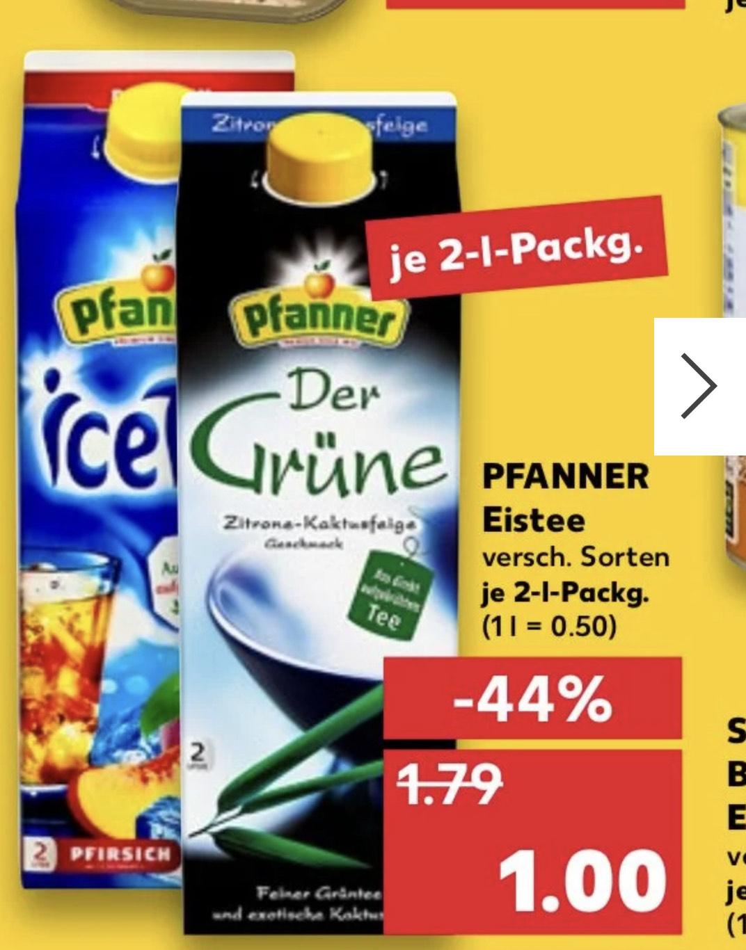 Kaufland: PFANNER Eistee 2 Liter versch. Sorten für 1€