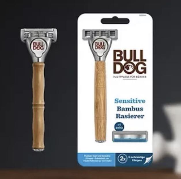 ( Marktguru & Rossmann ) Bulldog Sensitive Bambus Rasierer inkl. 2 Klingen effektiv für 0,49€