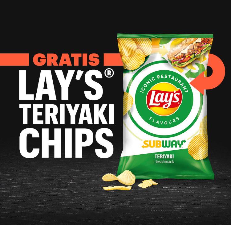 GRATIS Lays Teriyaki Chips bei Subway (Mindestbestellwert: 25 Euro)