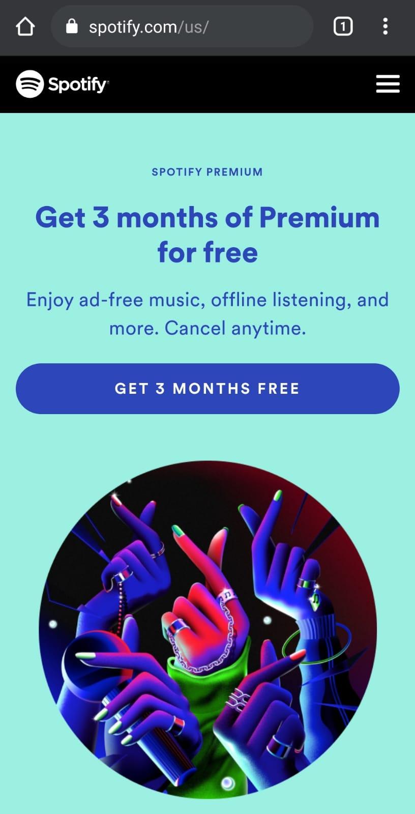 Spotify.com 3-Monate Gratis für Neukunden - VPN US