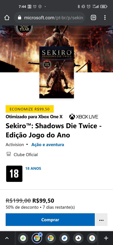 Sekiro Game of The Year (XBOX) im Microsoft Store Brasilien 50% reduziert
