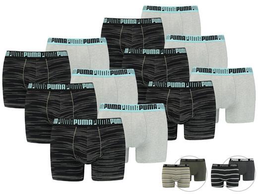 12x PUMA Boxershorts (Verschiedene Farbvarianten verfügbar, Größe S - XL) [iBOOD]