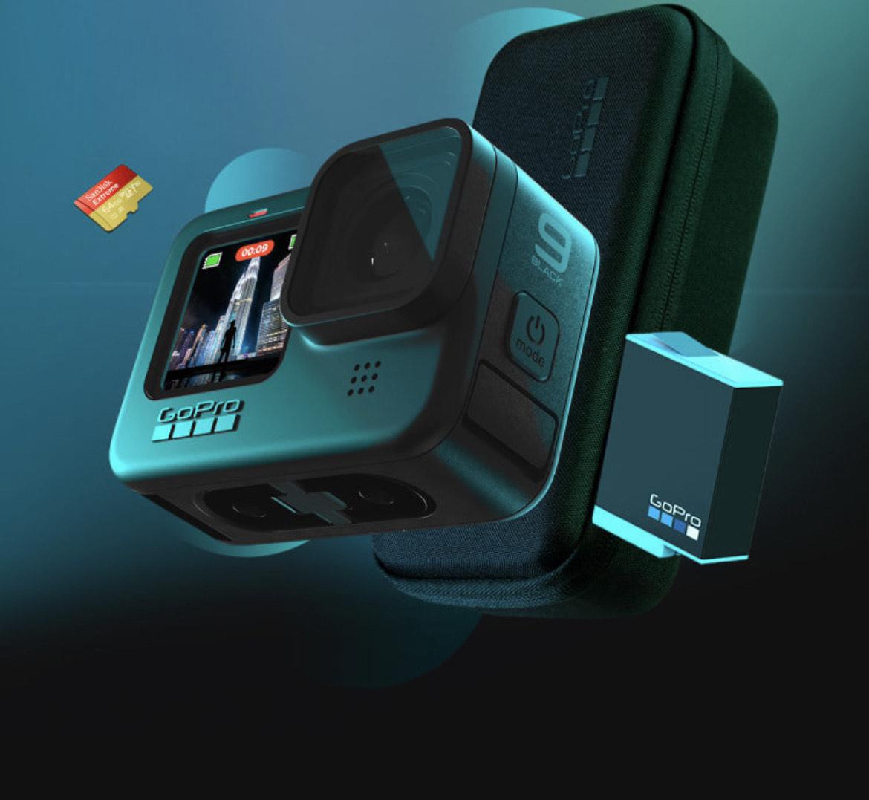 GoPro Hero9 + Ersatz Akku + SD Karte + Abo