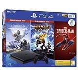 PlayStation 4 Slim 500GB + 3 Spiele (Spiderman, Horizon Zero Dawn, Ratchet and Clank)
