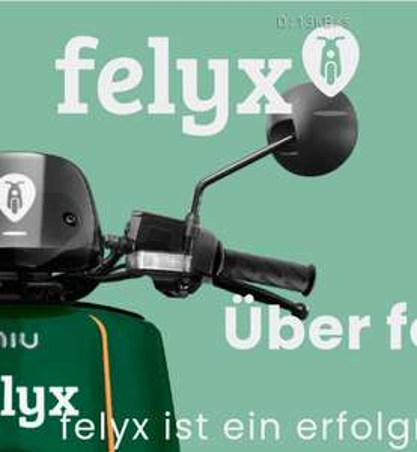 [Lokal Berlin, Hamburg, Düsseldorf] Felyx e-Mopeds - 50 Freiminuten