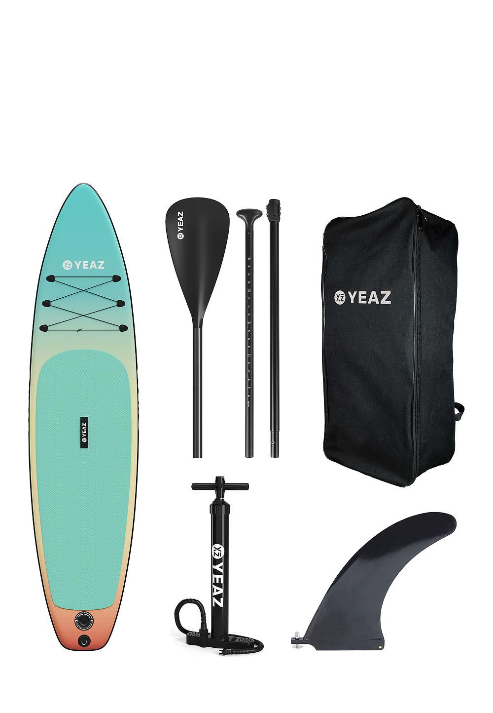 YEAZ SUP Exotrek, Board mit Paddel + Zubehör (Preis inkl. 10% Gutschein auf Alles)