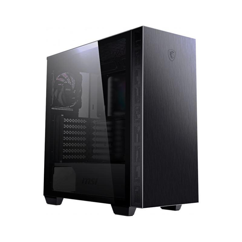 Mindstar RGB MSI MPG Sekira 100P Echtglas Midi Tower ohne Netzteil schwarz Gehäuse PC