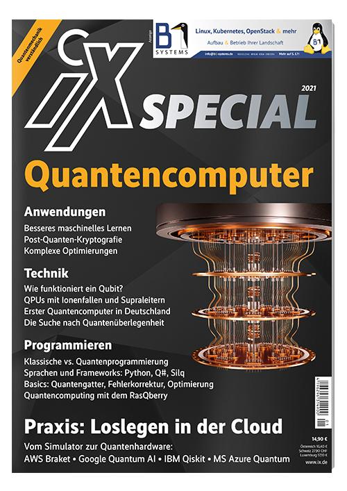 iX Heft 2021 Quantencomputer + 2 iX Ausgaben + iX Heft Moderne Softwarearchitektur + 10€ Amazon/ Buch Eine Geschichte vom Quantencomputer