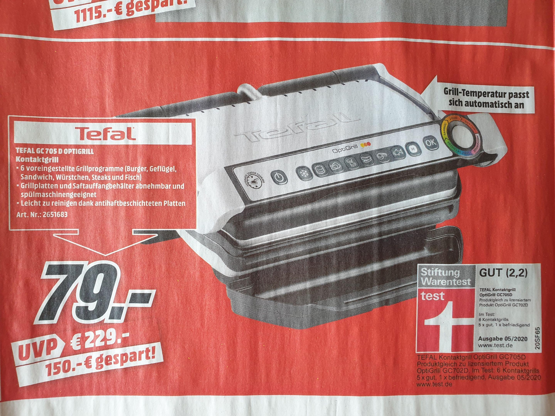 (Lokal Media Markt Bad Neustadt) TEFAL GC 705 D OPTIGRILL