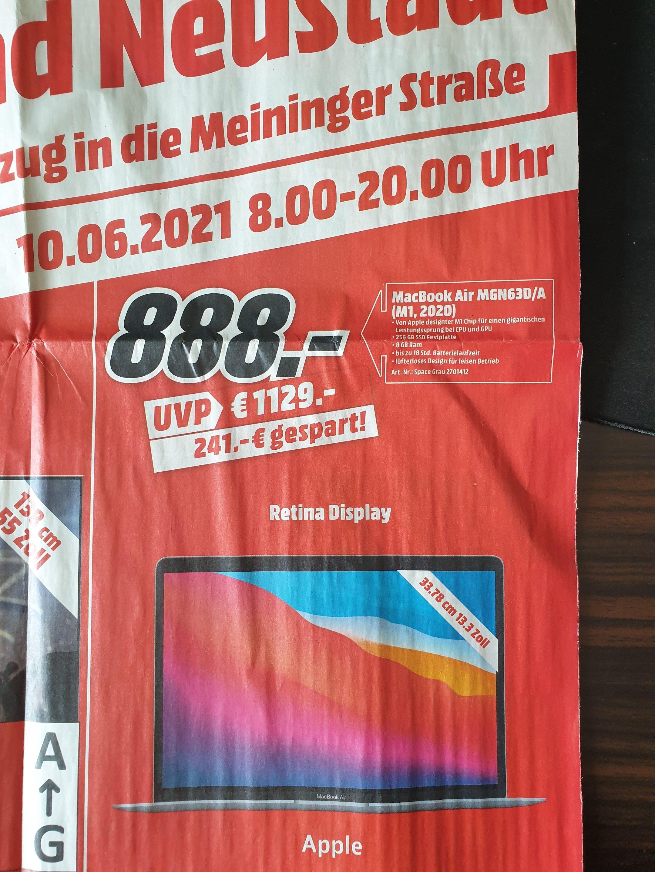 (Lokal Media Markt Bad Neustadt) Apple MacBook Air MGN63D/A