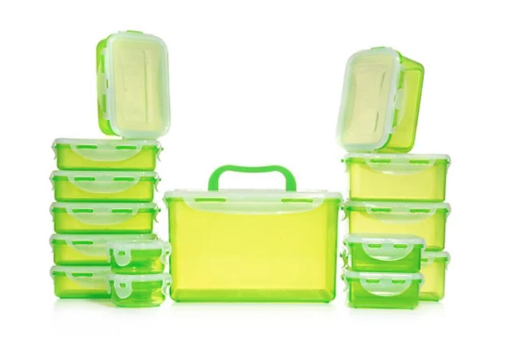 LocknLock 15 Frischhaltedosen, Luft- & Aromadicht, 100ml-4,5l, 6 verschiedene Farben