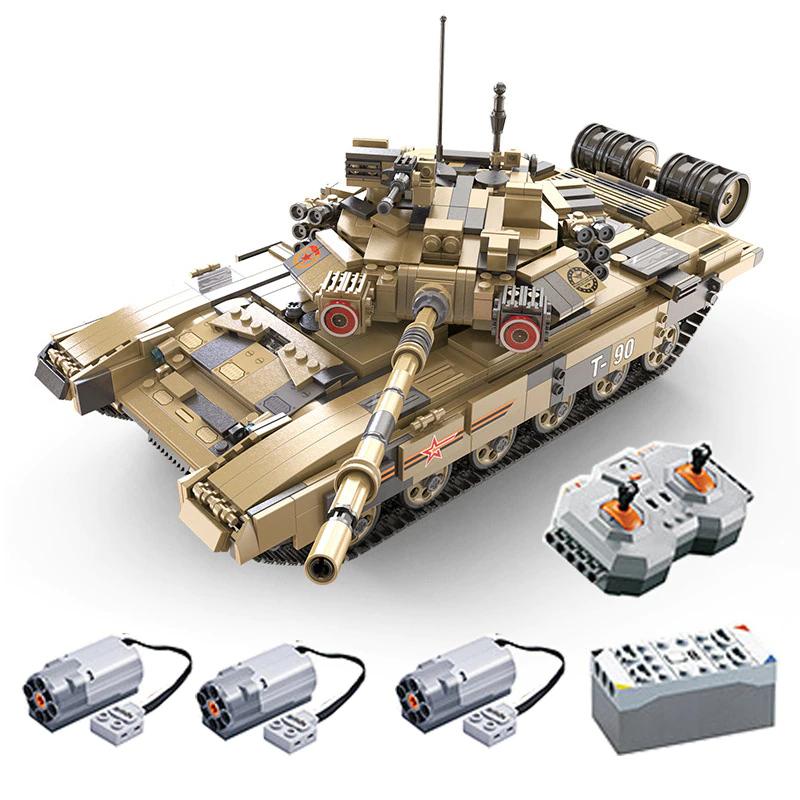 CaDa C61003W Russian T-90 Battle Tank, Panzer mit 1722 Teile /Klemmbausteine +Power System für 68,12€ aus CN oder ohne Power für 59€ aus D