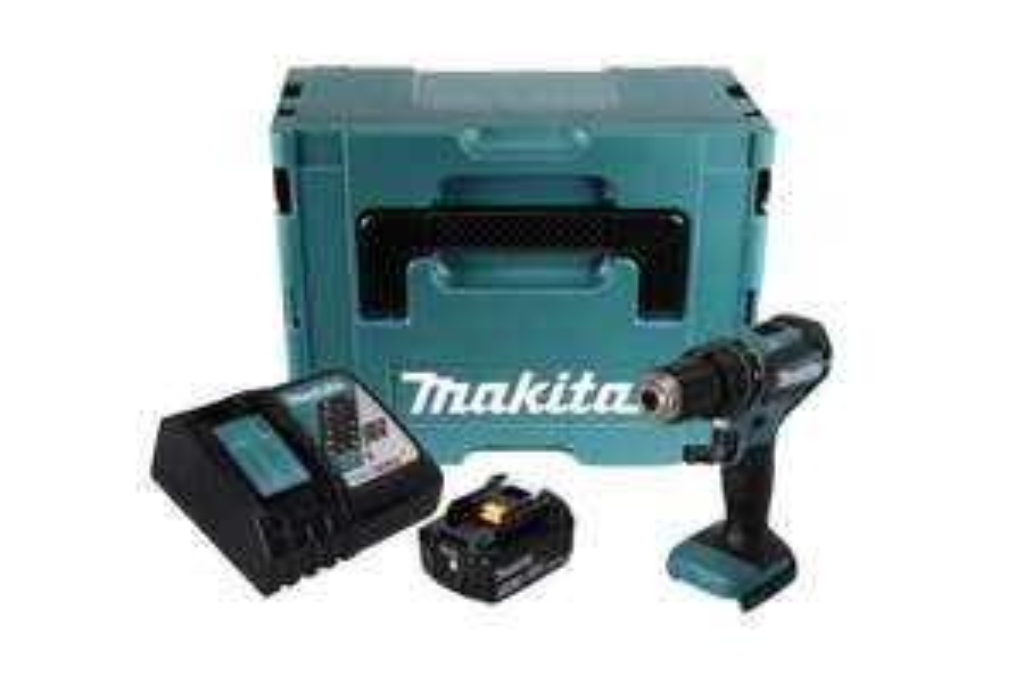 "Makita DHP485RF1J Akku-Schlagbohrschrauber 18V ( Brushless 1/2"" 50Nm + 1x Akku 3,0Ah + Ladegerät + Koffer )"