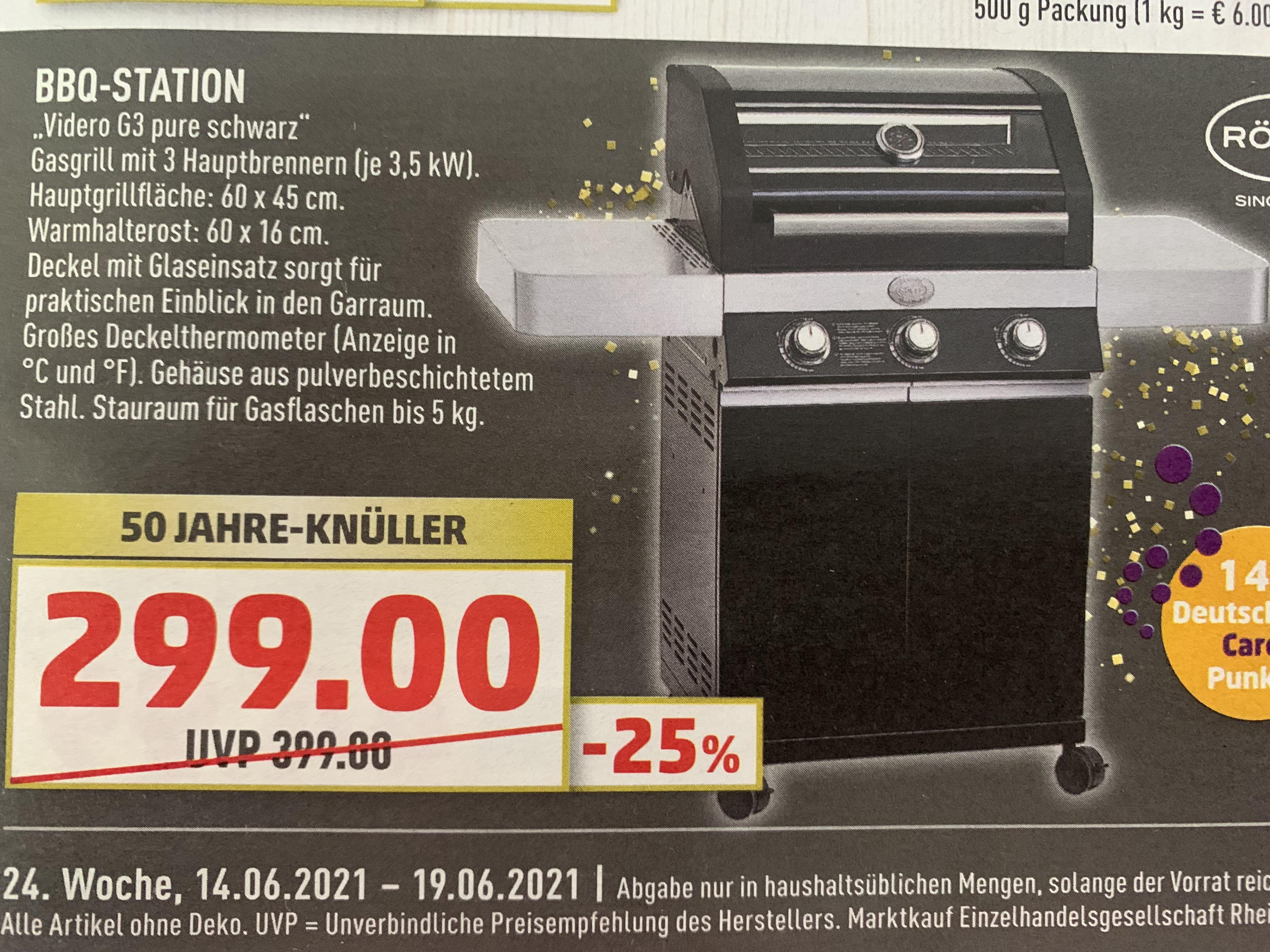 Marktkauf RÖSLE BBQ Station Videro G3 pure schwarz