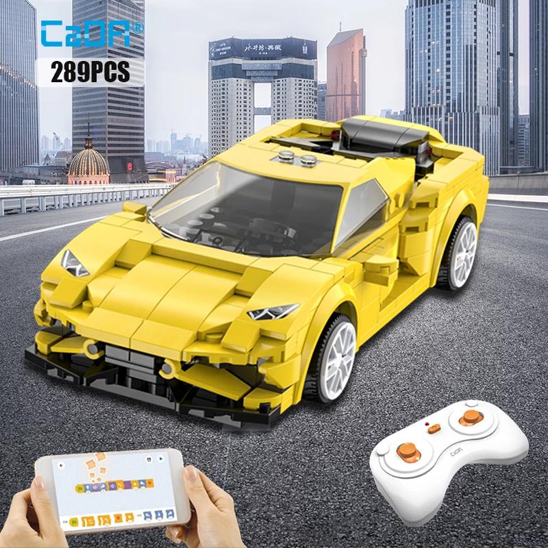CaDa RC Spielzeug-Autos - in blau mit 325 Teilen oder gelb mit 289 Teilen Klemmbausteine für 12,51€