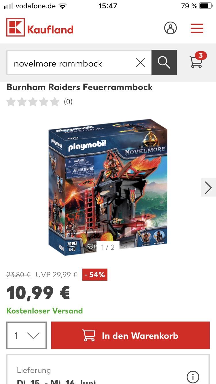 Playmobil Burnham Raiders Feuerrammbock 70393