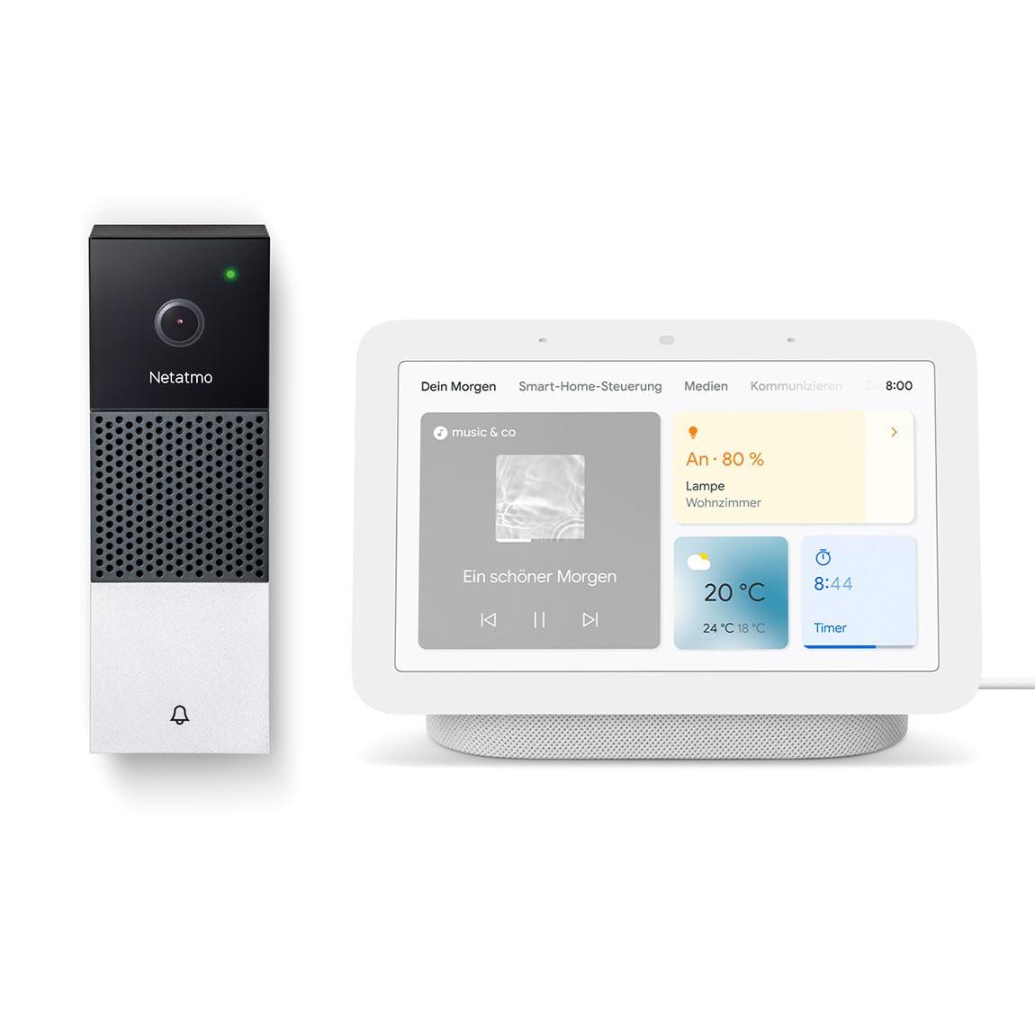 Bundle - Netatmo Smarte Videotürklingel Doorbell + Google Nest Hub (2. Generation)