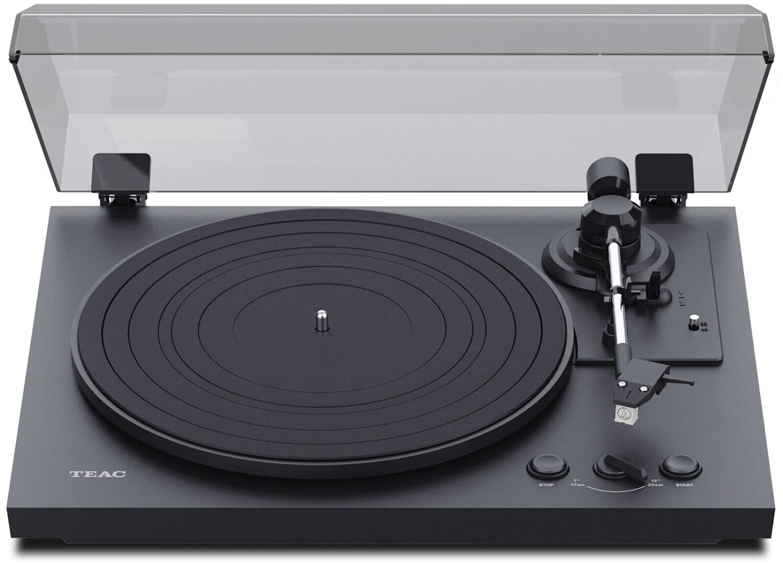 Teac TN-175 Vollautomatischer Plattenspieler (Riemenantrieb, 33/45rpm, AT3600L Tonabnehmer, Phono-Vorstufe, Staubschutzhaube)