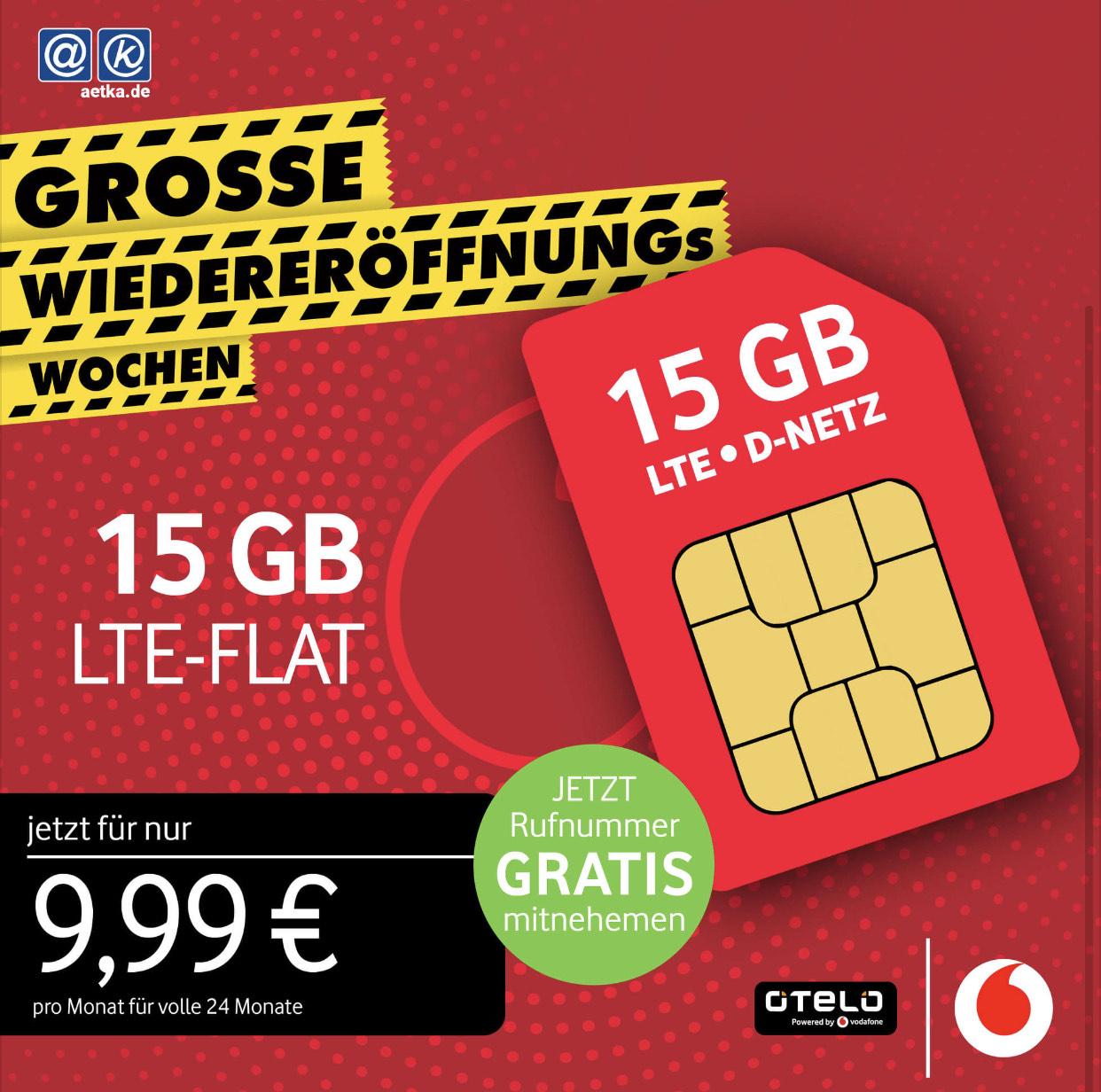 Otelo 15 GB, Allnet-Flat, 24 Monate