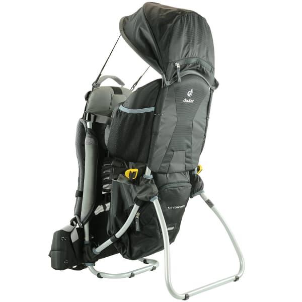 (Ekosport) Deuter Kid Comfort I + PPS Kinder-Kraxe (mit Sonnen-/Regenschutz)