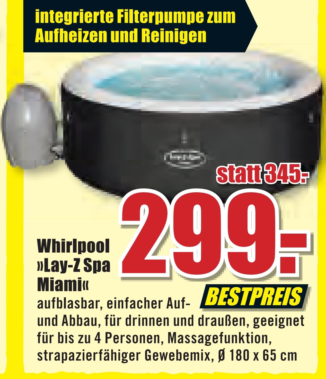 "[B1 Baumarkt] Whirlpool ""Lay-Z Spa Miami"" zum Bestpreis"