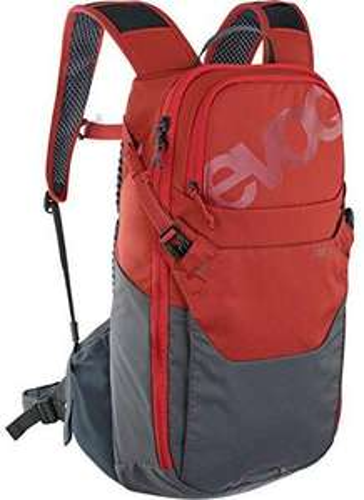 EVOC RIDE 12, Fahrradrucksack für Trails, 12 L, Farbe Chili Rot / Carbon Grau, 590 g, [Amazon/Rucksackspezialist]