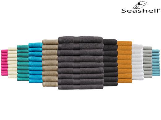 """9x Seashell Handtuch """"Hotel Collection"""" (50 x 100 cm, 100% Baumwolle, 500 g/m², 11 Farben verfügbar) [iBOOD]"""