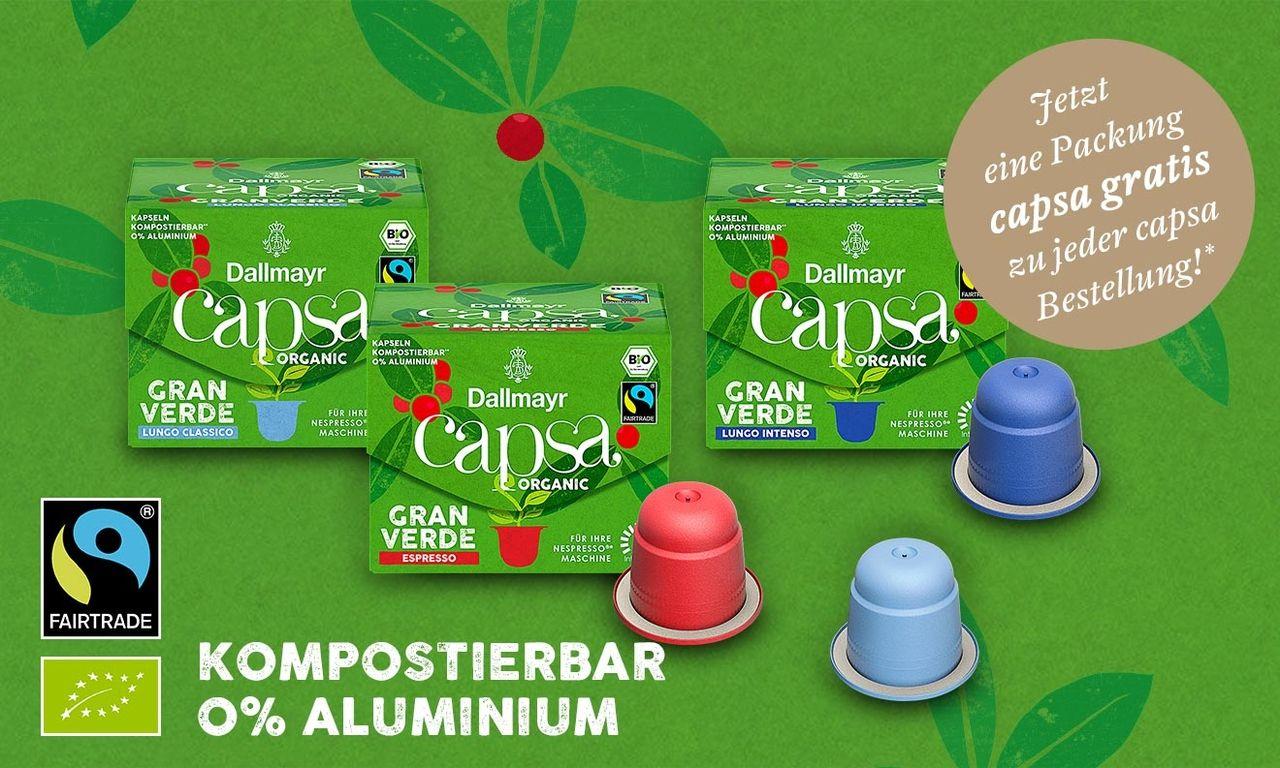 [Edeka Center Minden-Hannover] Dallmayr Gran Verde Bio Fairtrade Kapseln mit Genuss+ App für 0,99€ pro Stück