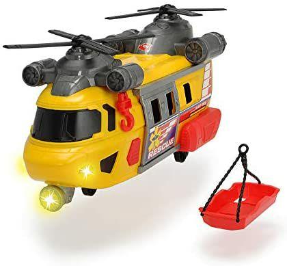 Dickie Toys Rettungshelikopter mit drehbarem Frontlicht & Sound, mit Aufzieh-Seilwinde inkl. Trage, 30 cm, ab 3 J. [Amazon Prime]