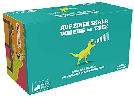 Asmodee Auf einer Skala von Eins bis T-Rex, Partyspiel, Kartenspiel, 2-8 Spieler, ab 7 Jahren [Thalia KultClub]