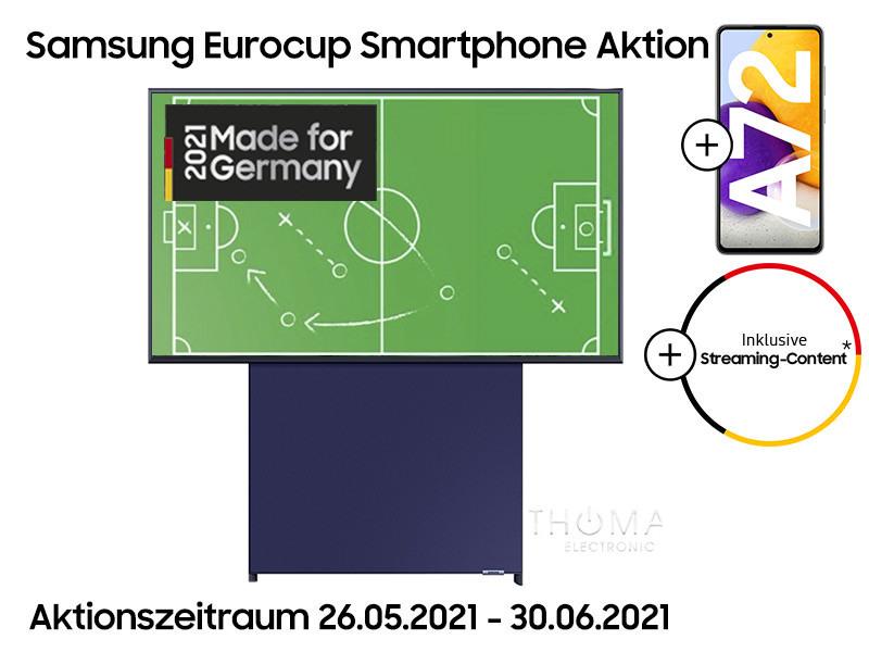 Samsung The Sero ( 43 Zoll QLED TV ) + Samsung Galaxy A72 Smartphone bei thomas-electronic-online-shop.de