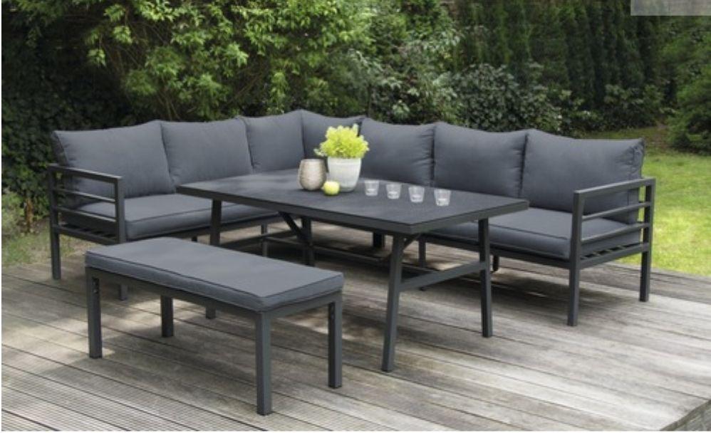 Alu Lounge Garnitur 6-Sitzer 4-Teilig
