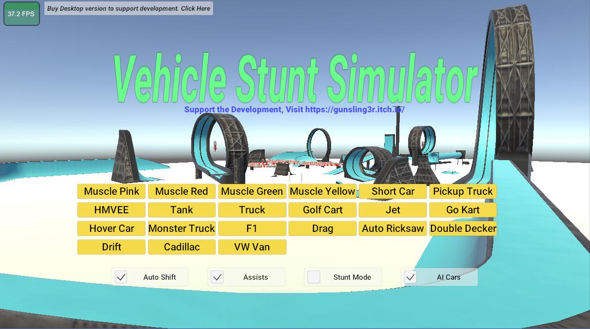 (PC) Vehicle Stunt Simulator - Itch.io