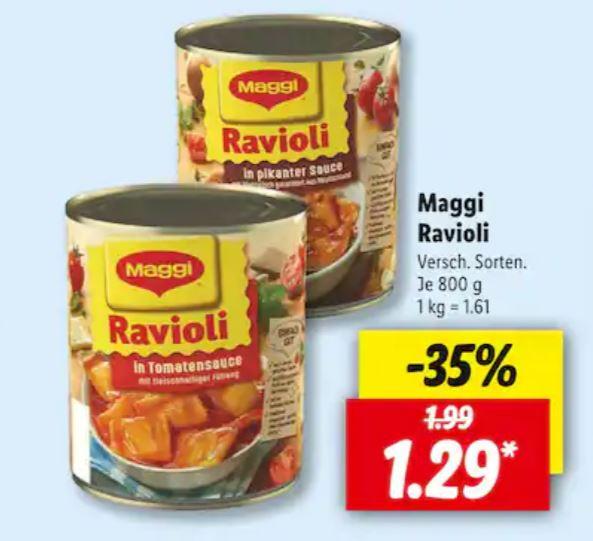 Maggi Ravioli zum Start der Campingsaison bei Lidl ! Nur noch heute!