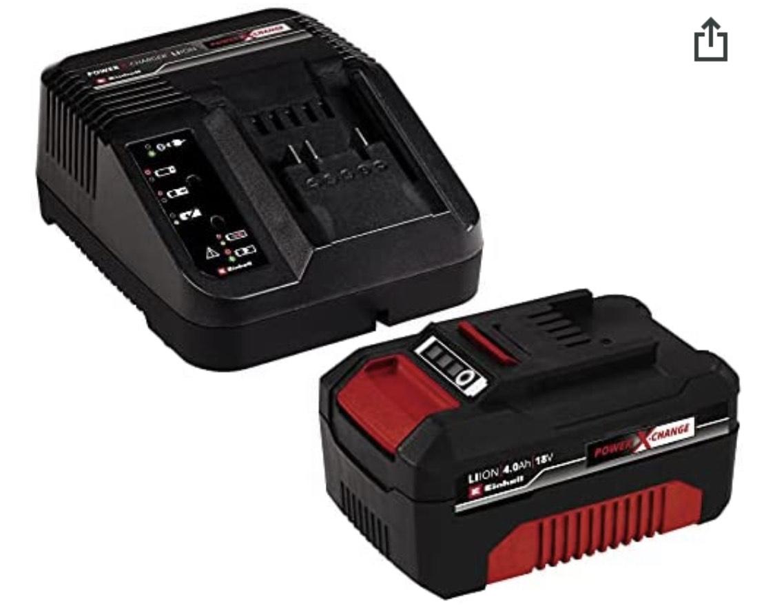 Einhell Starter Kit Akku 4,0 Ah 18 V und Ladegerät Power X-Change