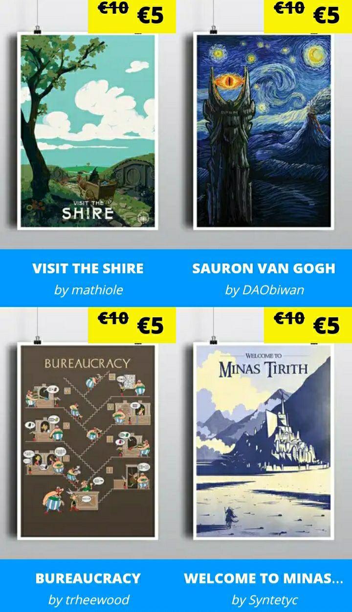 [Bis heute 23:00 Uhr] Qwertee Prints für 5€ (-50%)