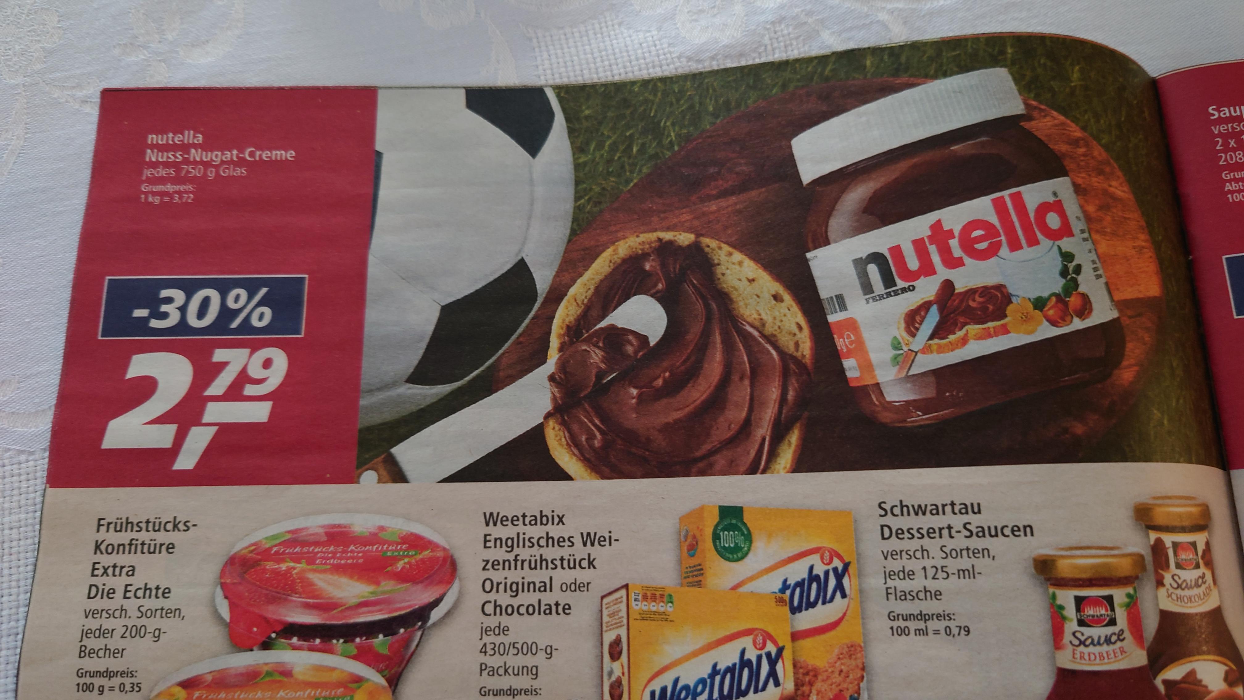 Real - Nutella Nuss-Nougat-Creme Glas 750 g