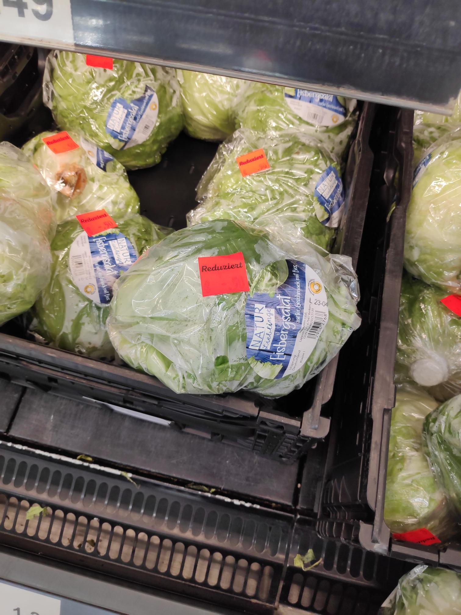 Aldi Essen Ostviertel - bestimmtes Gemüse und Obst über 50% reduziert