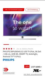 """Philips 58PUS8545/12 """"The One"""" 4K UHD LED Android TV"""