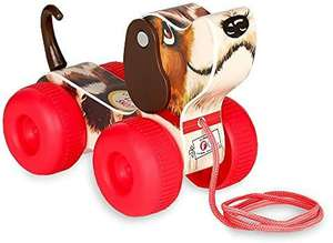 Fisher-Price Klassiker, Retro Kleiner Schnüffler, Nachziehspielzeug, Hund mit Wackelschwanz & schwingenden Ohren [Amazon Prime]