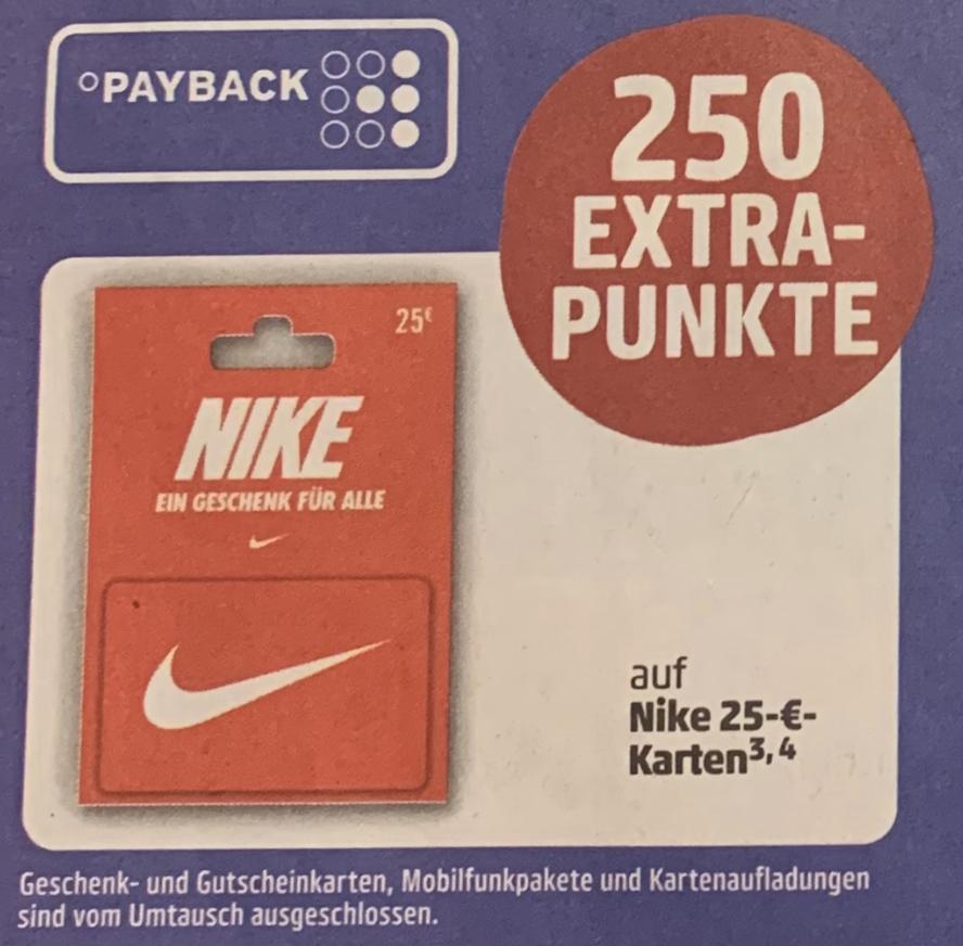 Nike 25€ Geschenkgutschein mit 250 °P im Penny