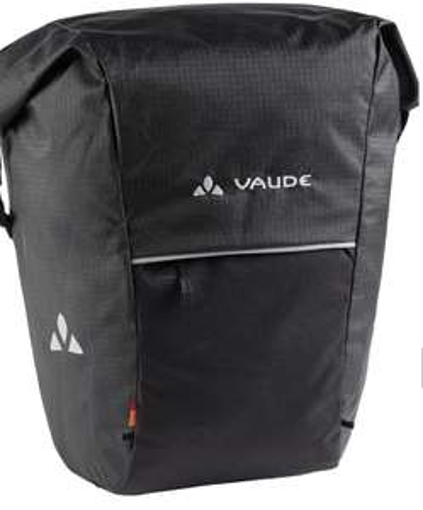 VAUDE Road Master Roll-It Waxed schwarz Fahrradtasche
