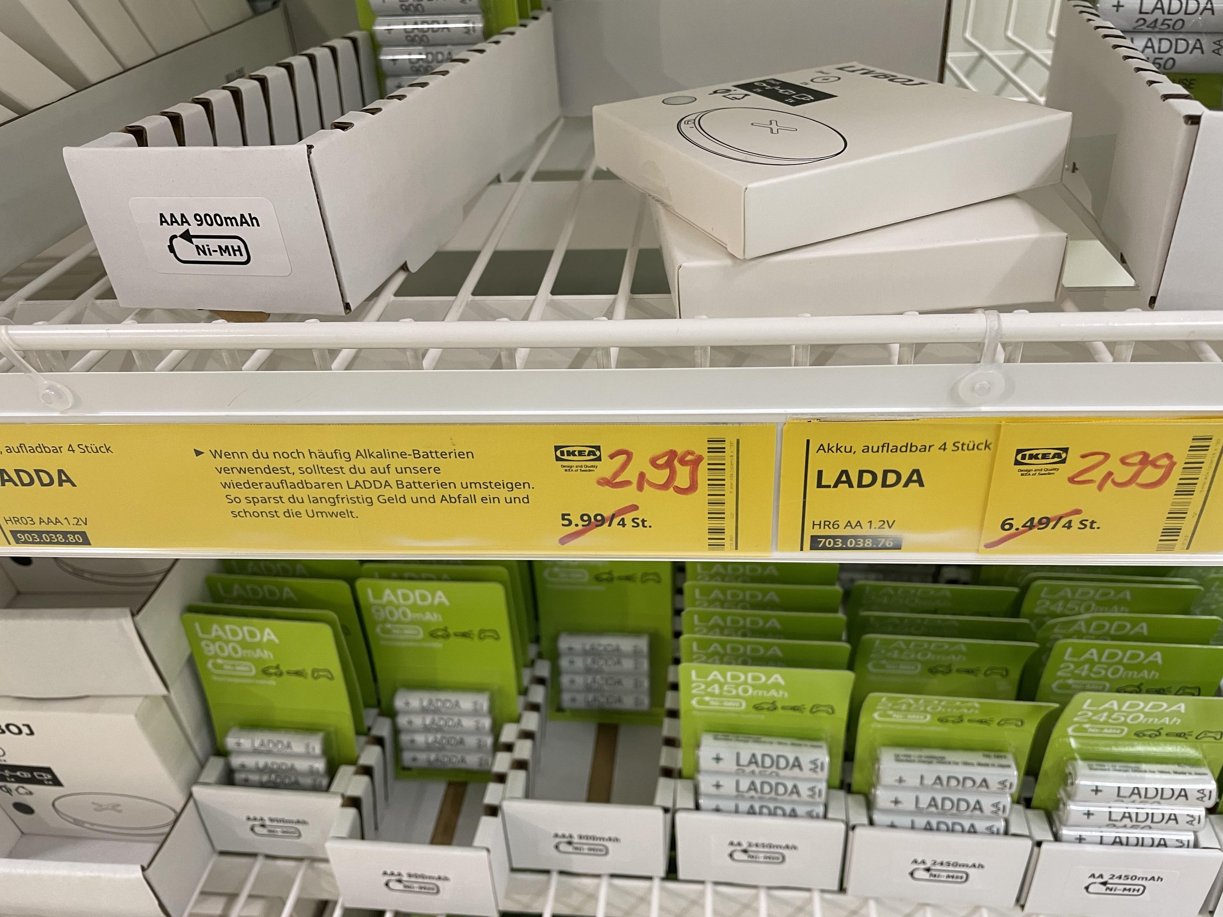 [IKEA Ulm] Ikea Ladda AA und AAA im Angebot