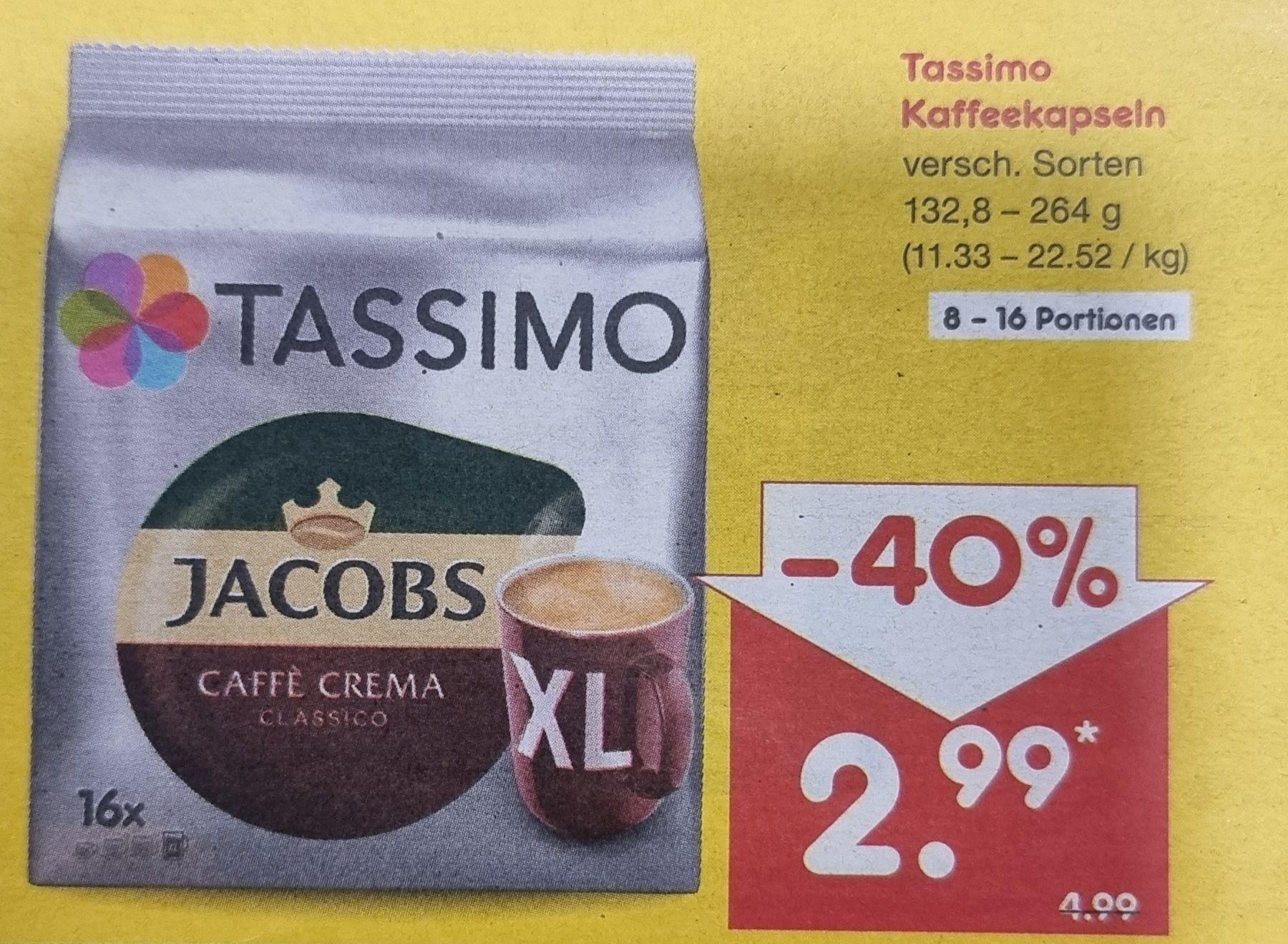 Tassimo Kaffekapseln versch. Sorten (Netto)