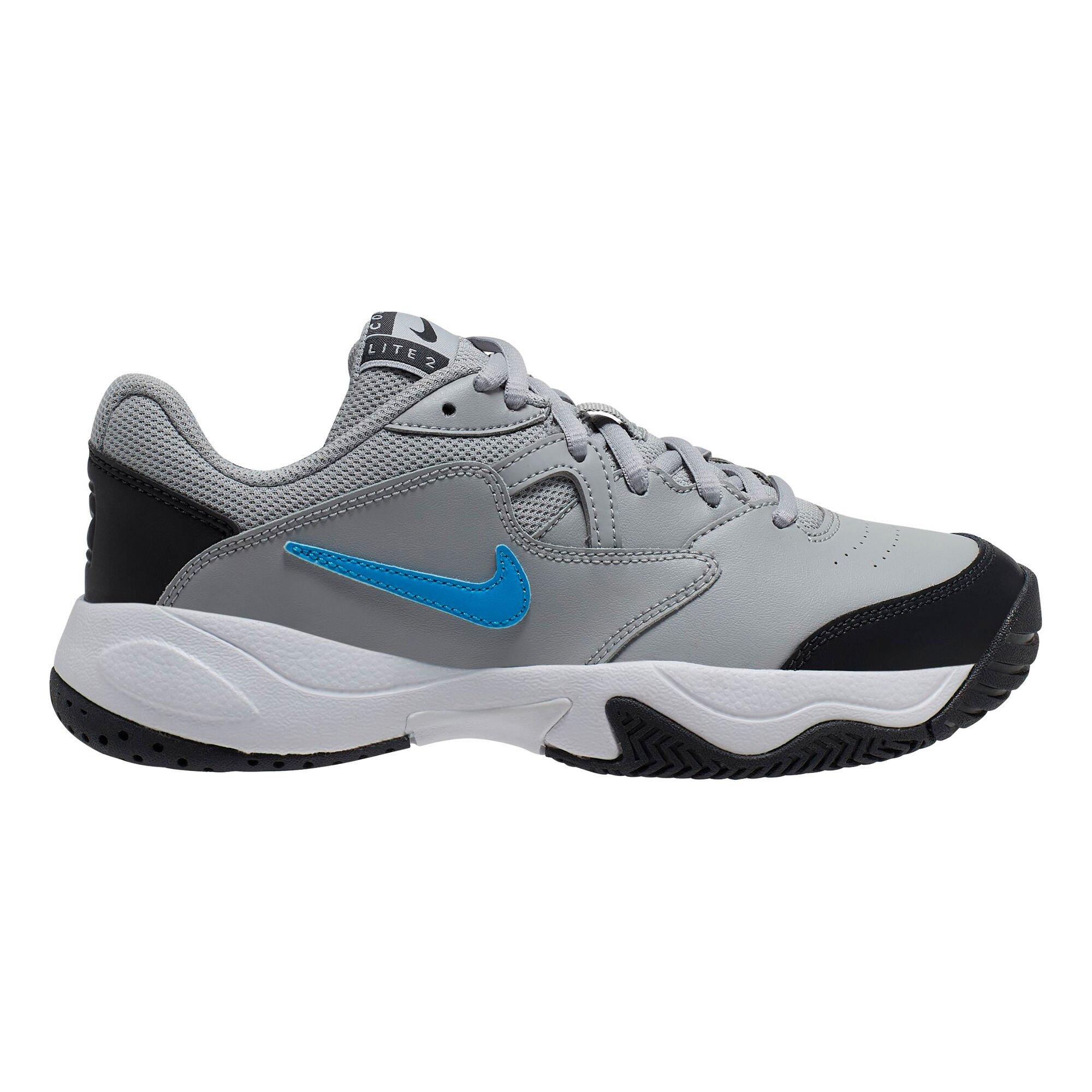 Nike Court Lite 2 Allcourtschuh Kinder - Grau-Schwarz Gr. 32-37.5