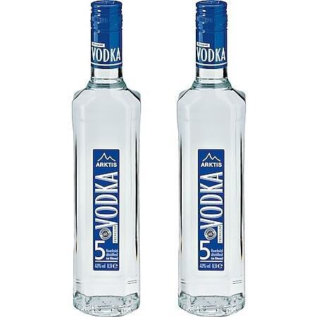 [nur 19.06.21] zwei 0,5l-Fl. Arktis Premium Vodka 40,0 % Vol. (7,98€/l)