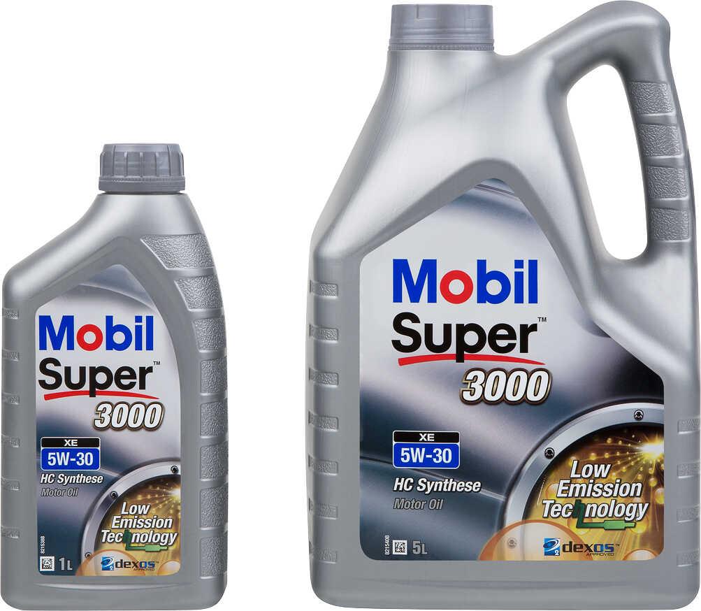 MOBIL Motorenöl Sammeldeal: 5L - 5W-30 - 3000XE + 1L Flasche kostenlos oder 5L - 10W-40 - 2000X1 + 1L Flasche kostenlos [Kaufland]
