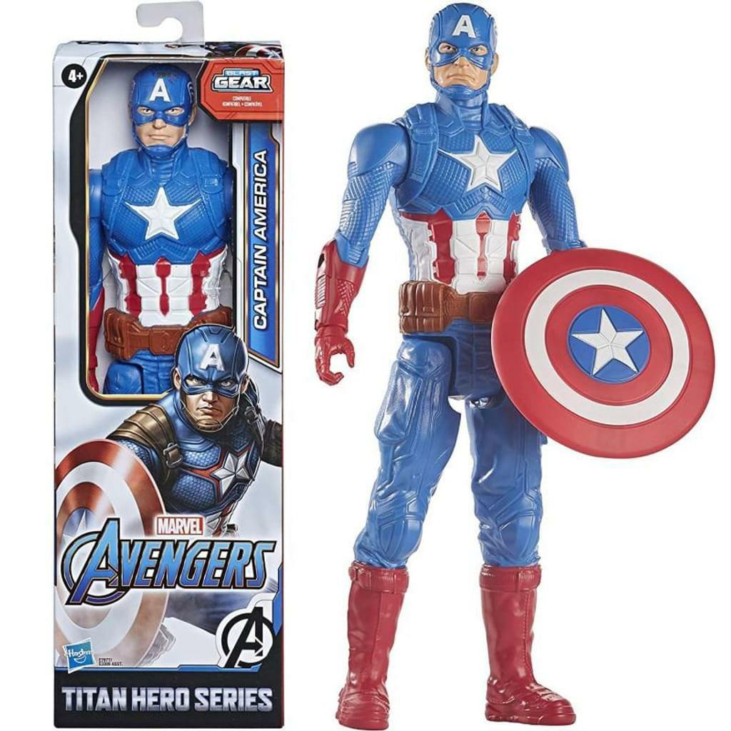 Hasbro - Marvel Avengers Titan Hero Serie Captain America, 30 cm große Actionfigur mit Titan Hero Power FX Port [Amazon Prime]